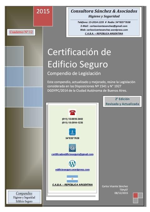 2015-COMPENDIO LEGISLACIÓN EDIFICIO SEGURO-ACTUALIZADO-CUADERNO 12